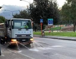 Al via l'intervento di disinfezione delle strade cittadine