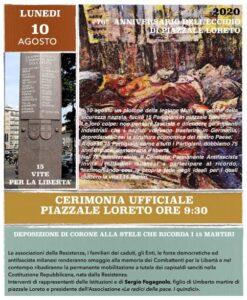 Lunedì 10 Agosto – Cesate ricorda i Martiri di Piazzale Loreto