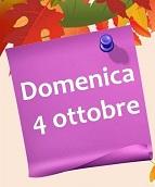 ATTENZIONE! A causa del maltempo il Mercatino d'Ottobre  previsto per  domenica  4 ottobre in occasione della festa di San Francesco, verrà rinviato a domenica 18 ottobre.