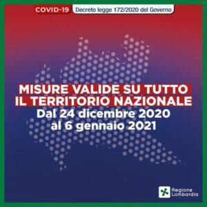Decreto- Legge 172/2020 – Misure straordinarie per le Festività Natalizie