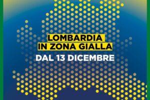 Dal 13 dicembre 2020 la Lombardia è in zona gialla