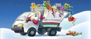 Raccolta rifiuti nel periodo natalizio