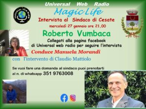 Intervista al Sindaco di Cesate -27 gennaio 2021