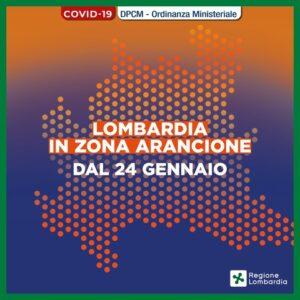 La Lombardia in Zona Arancione dal 24 gennaio 2021