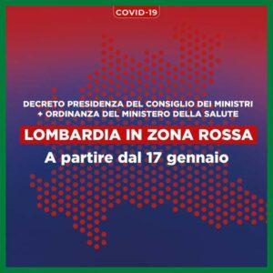 """La Lombardia in """"zona rossa"""" fino al 31 gennaio"""