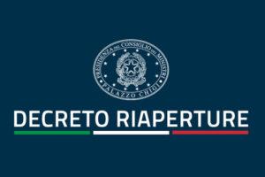 """Nuovo Decreto """"Riaperture"""" – in vigore dal 19 maggio 2021"""