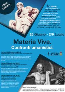 Materia Viva! Tre serate dedicate alla filosofia.