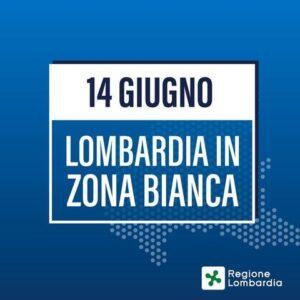 Da lunedì 14 giugno 2021 la Lombardia entra in zona bianca