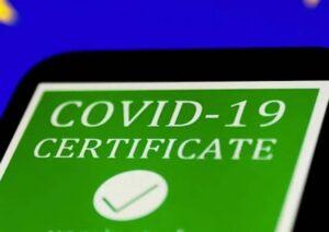 Covid: Green Pass attivo dal 6 agosto 2021