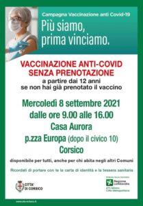 Vaccinazione anti COVID senza prenotazione