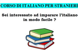 Corso di italiano per stranieri – Italian language course for foreigners